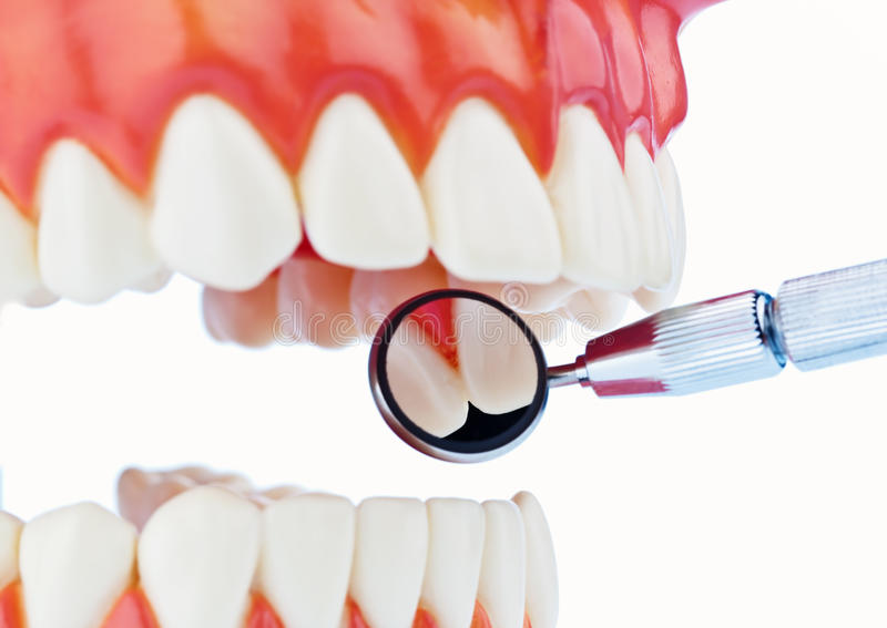 At the dentist stock images