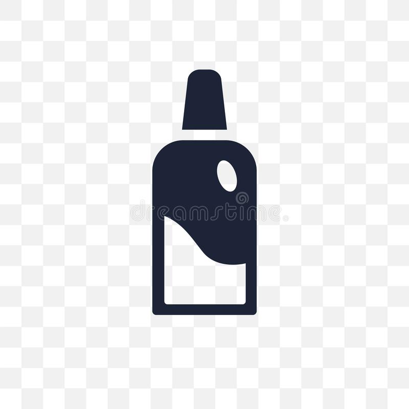 Dentist bottle with liquid transparent icon. Dentist bottle with vector illustration