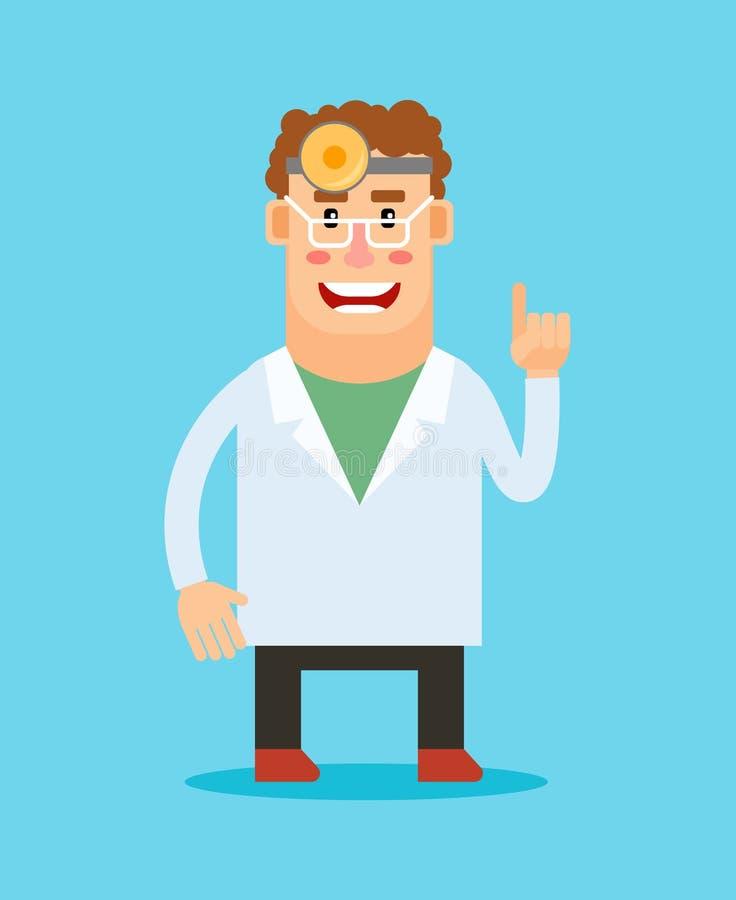 Dentist cartoon character vector illustration