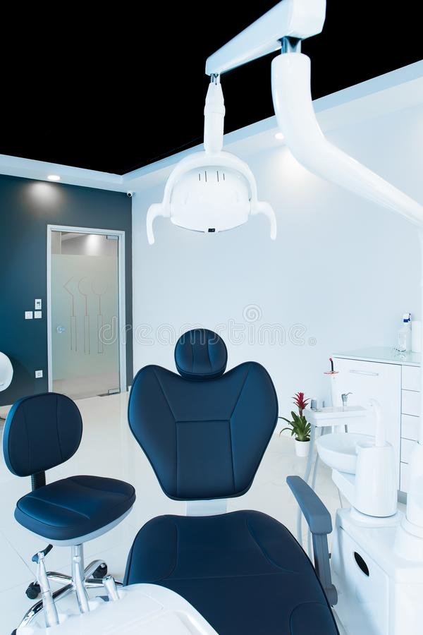 Dentist chair. Dentist room in hospital stock photo