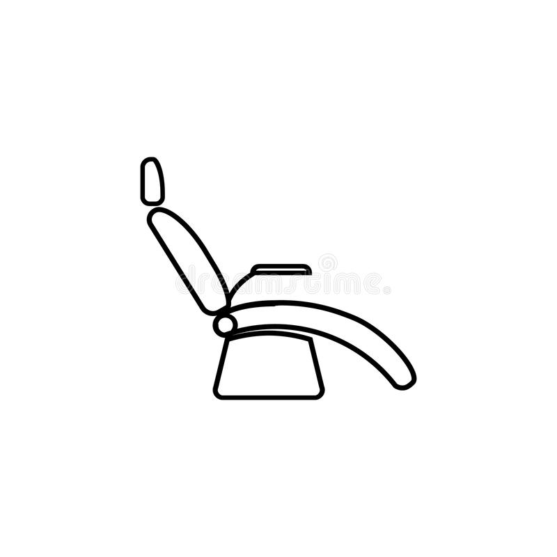 Download Dentist Chair Line Icon. Medical Armchair Icons Figure Thin Linear  Signs For Websites,