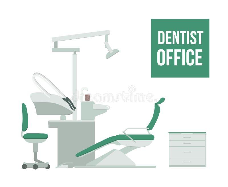 Dentist or dental office. Vector illustration. Dental clinic for web or banner stock illustration
