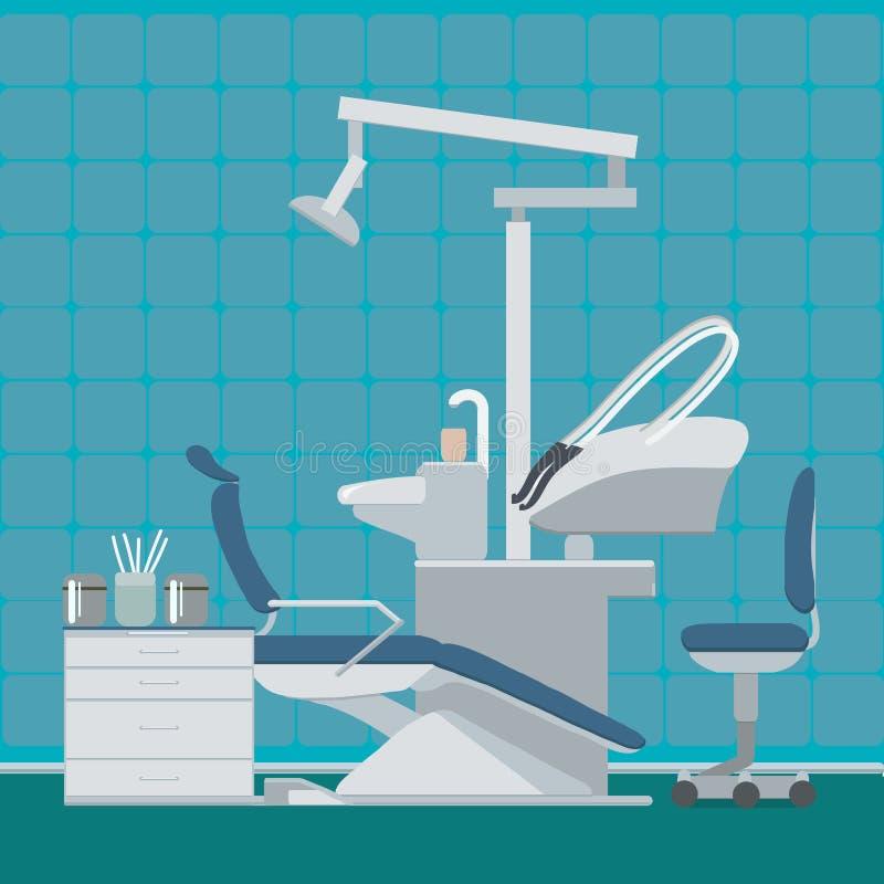 Dentist or dental office. Vector illustration. Dental clinic for web or banner royalty free illustration