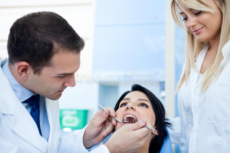 Download The Dentist Examines A Patient Stock Photo - Image: 30942742