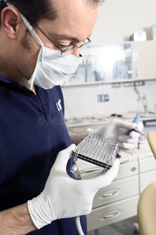 Dentist and his drills