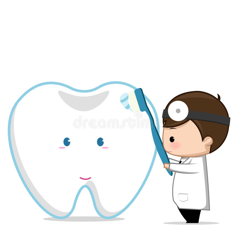 Dentist holding a sign royalty free stock photography