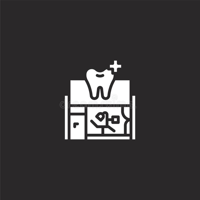 Dentist icon. Filled dentist icon for website design and mobile, app development. dentist icon from filled dental collection. Isolated on black background royalty free illustration