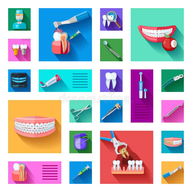 Dentist Icons Set stock illustration