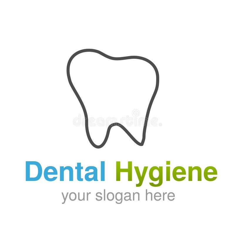 Dentist Logo Design Template Tooth Line Symbol For Dental Clinic Or