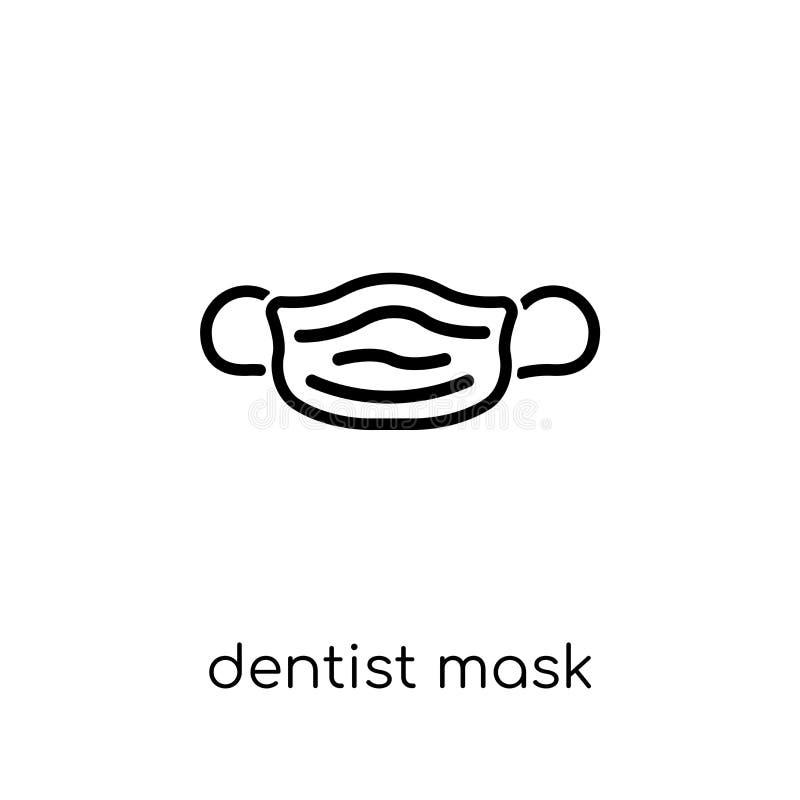 Dentist mask icon. Trendy modern flat linear vector Dentist mask royalty free illustration
