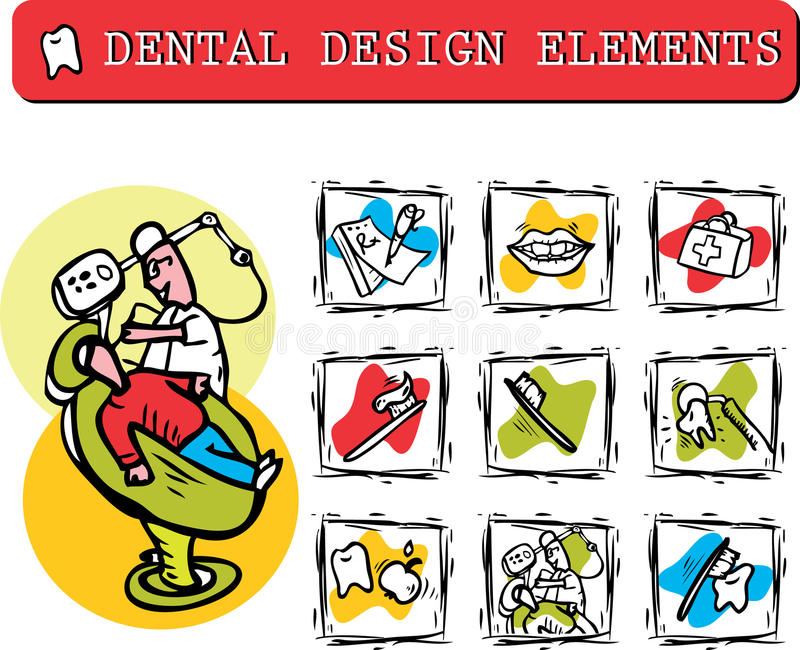 Download At Dentist's Office Icons Set Clipart Stock Illustration - Image: 15877929