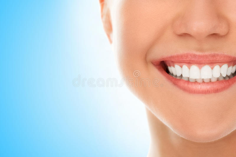 At a dentist with a smile stock photography
