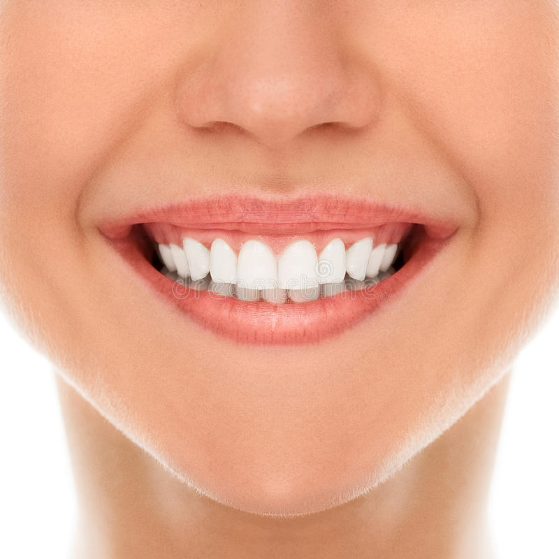 At a dentist with a smile stock image