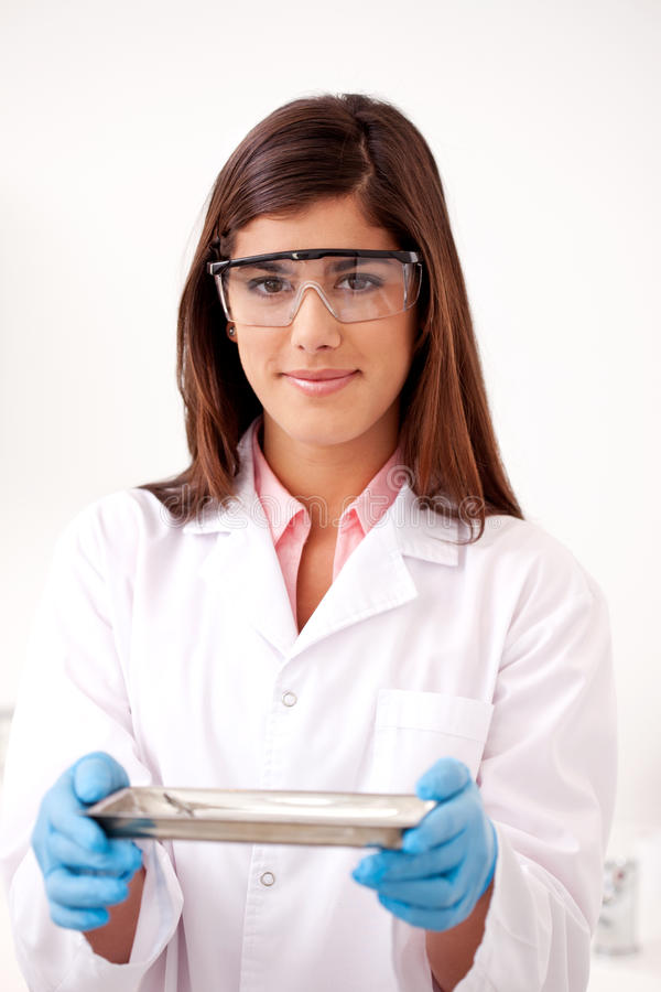 Dentist with Sterile Tools stock image