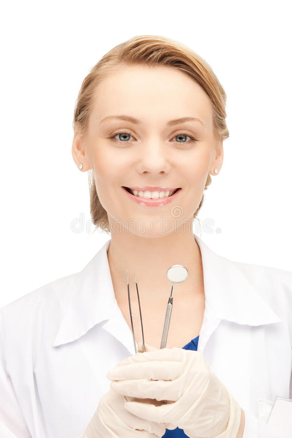 Download Dentist with tools stock photo. Image of lady, human - 20771300