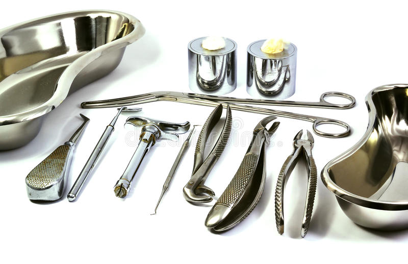 Dentist tools stock photo