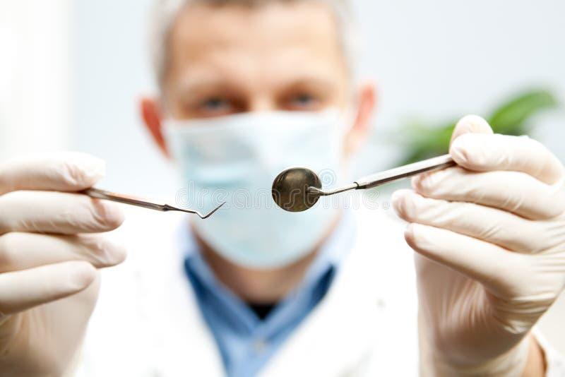 Dentist tools royalty free stock photo