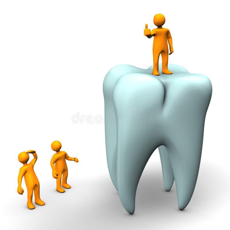 Dentist on tooth royalty free illustration