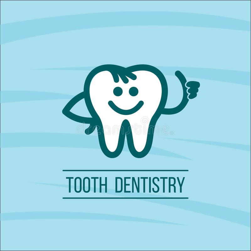 Dentist tooth logo design template. Dental Clinic Logotype. 3 stock illustration