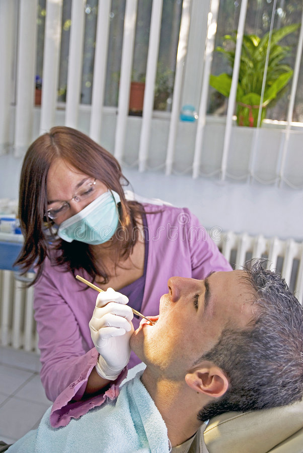 Dentista fotografie stock