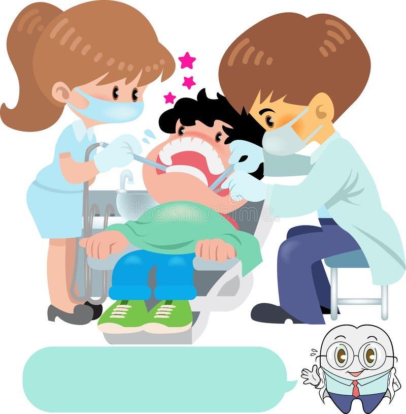 dentista ilustração stock