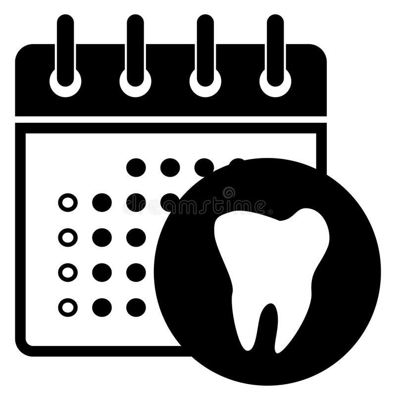 Dentista Appointment Icon di cura dentaria illustrazione di stock