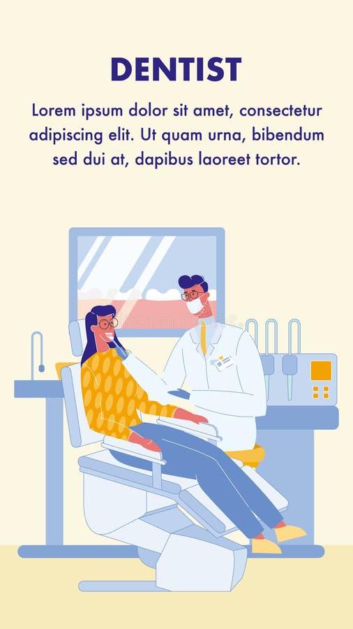 Dentista, aviador del vector de Stomatologist con el texto libre illustration