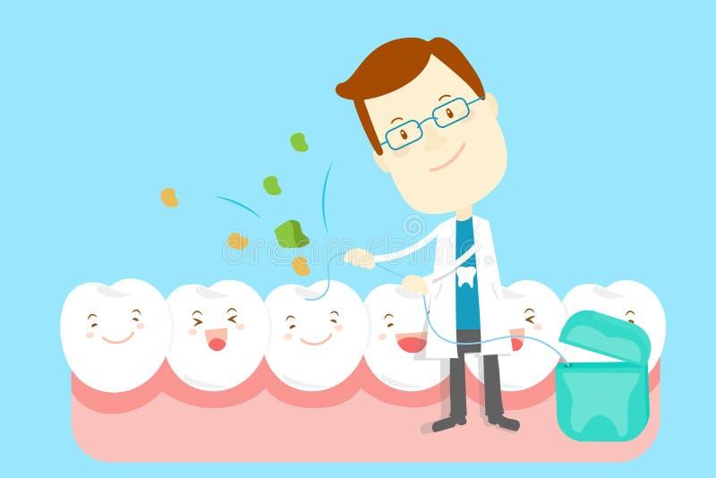 Dentista con il dente royalty illustrazione gratis