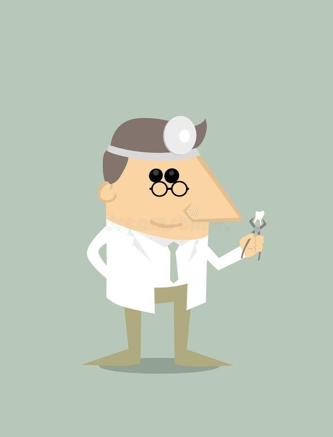 Dentista de la historieta stock de ilustración