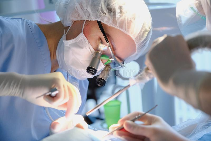 Dentista de sexo femenino en uniforme quirúrgico fotografía de archivo libre de regalías