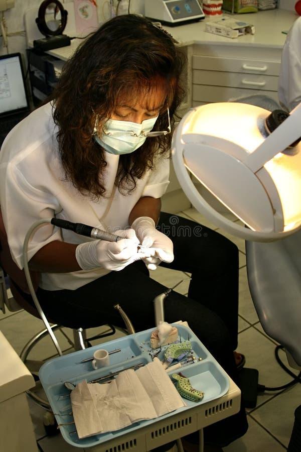 Dentista de sexo femenino hispánico fotografía de archivo libre de regalías