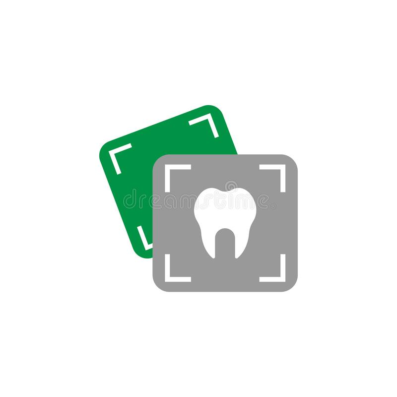 Dentista ed icona di tomografia Elemento dell'icona di cure odontoiatriche per i apps mobili di web e di concetto L'icona dettagl royalty illustrazione gratis