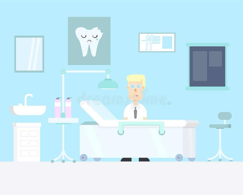 Dentista en su propio sitio imágenes de archivo libres de regalías
