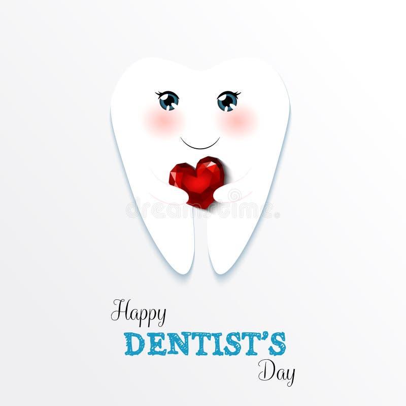 Dentista feliz Day do cartão bonito ilustração royalty free