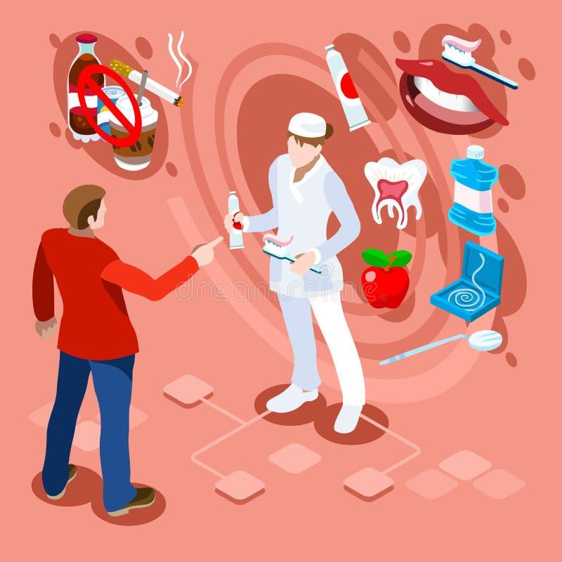 Dentista limpo saudável Recomandations dos dentes do quadro dental do conceito ilustração royalty free