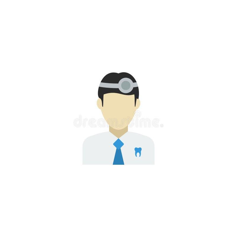Dentista plano Element del icono Ejemplo del vector del fondo plano de Isolated On Clean del Orthodontist del icono Puede ser uti stock de ilustración