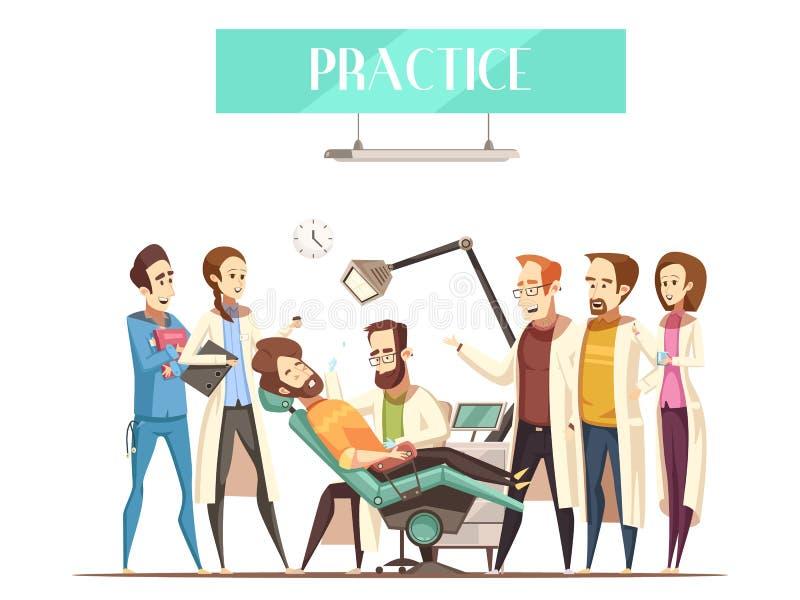 Dentista Practice Vector Illustration libre illustration