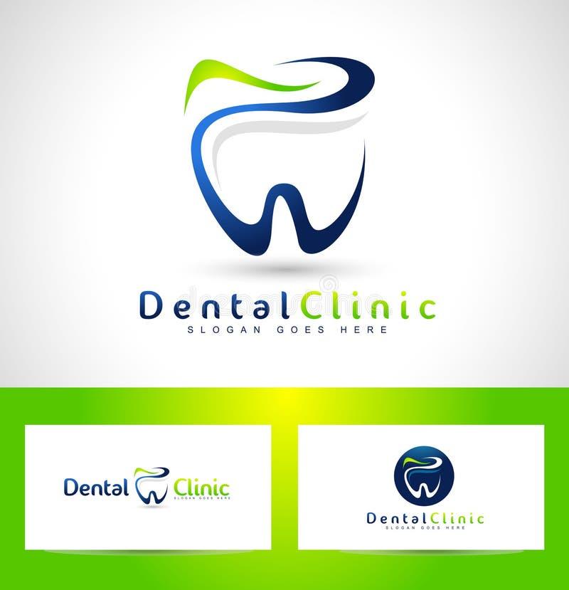 Dentiste dentaire Logo Design illustration de vecteur
