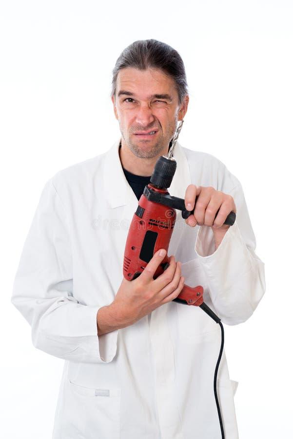Dentiste fou images stock