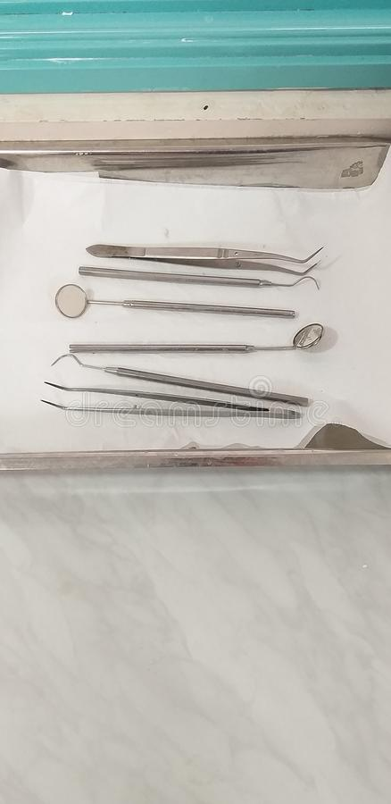Dentiste Instruments photos libres de droits