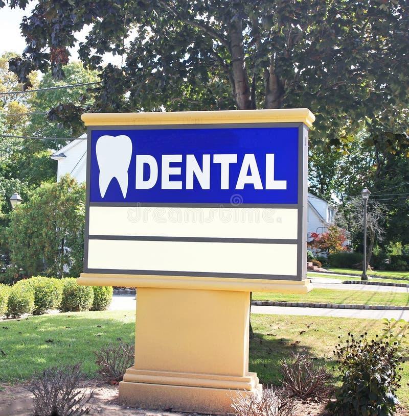Dentiste Office Sign photographie stock libre de droits