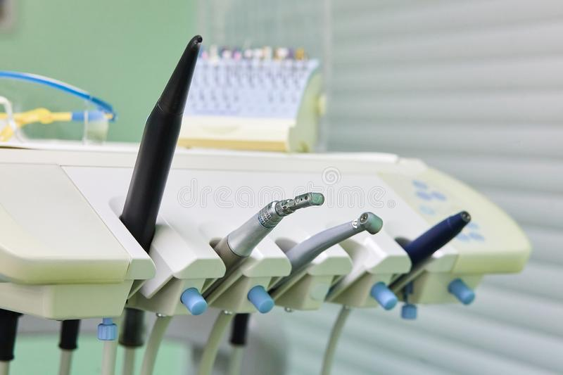 Dentistry. Medicine, medical equipment and dental concept. stock image