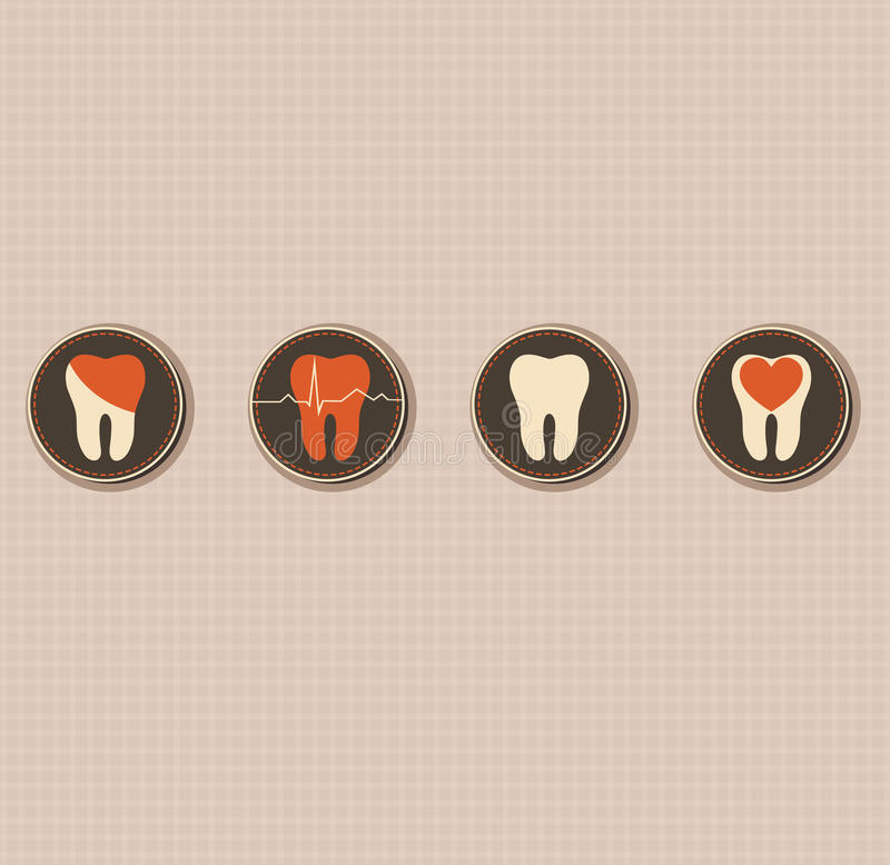Dentistry symbols royalty free illustration