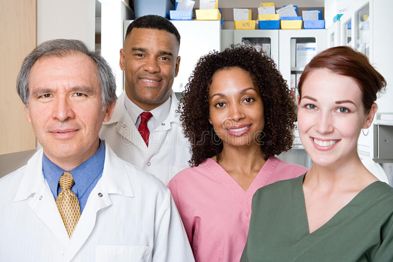 Dentists and dental nurses royalty free stock images