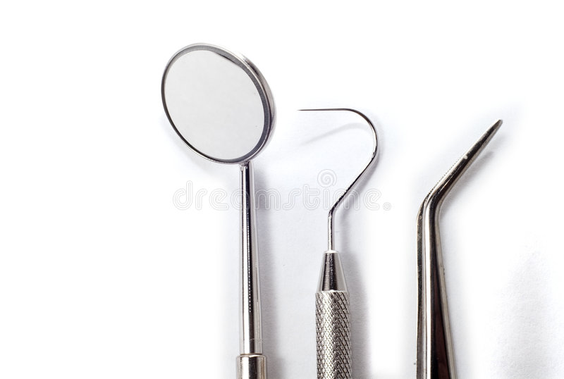 Dentists tools royalty free stock images