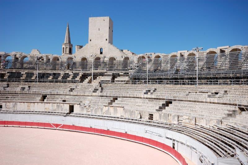 Dentro da arena em Arles fotos de stock royalty free