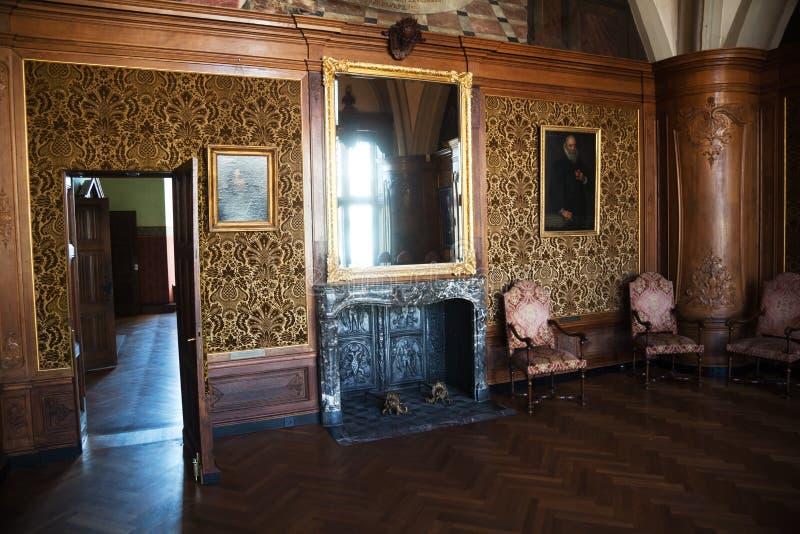 Dentro da câmara municipal histórica de Aix-la-Chapelle imagem de stock royalty free