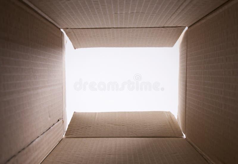 Dentro da caixa fotografia de stock