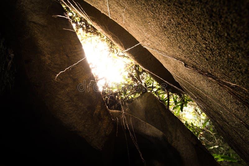 Dentro da caverna imagens de stock