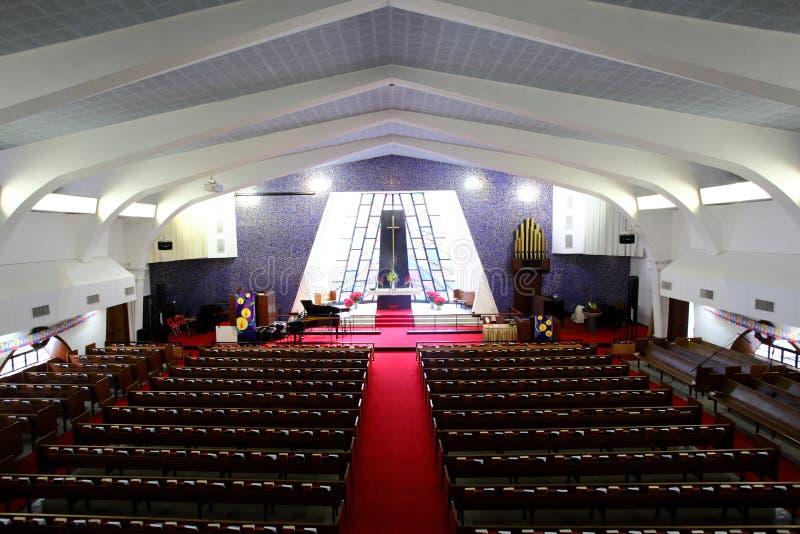 Dentro da igreja fotografia de stock